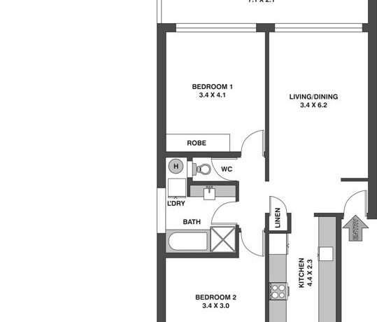 Floor Plan - Glen Street - Blank